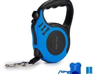 Retractable dog leash with non slip handle  Walking leash for X Small Small Medium large Heavy Duty Dog or Cat  5m  Blue