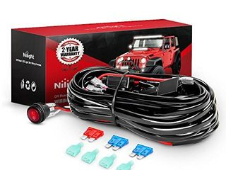 Nilight   NI  WA 06 lED light Bar Wiring Harness Kit   2 leads 12V On Off Switch Power Relay Blade Fuse for Off Road lights lED Work light