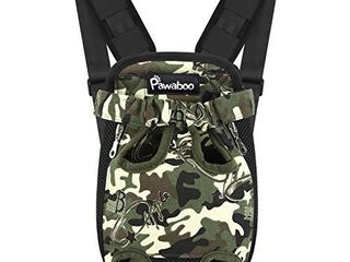 Pawaboo Pet Carrier Backpack  Adjustable Pet Front Cat Dog Carrier Backpack Travel Bag  legs Out  Easy Fit for Traveling Hiking Camping for Small Medium Dogs Cats Puppies  Xl  Deep Camouflage Black