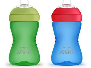 Philips AVENT My Grippy Spout Cup  10 Oz  2 Pack  Blue Green  SCF801 21