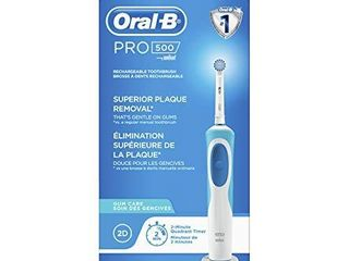 Oral B Pro 500 Sensitive Gum Care Rechargeable Electric Toothbrush  Powered by Braun