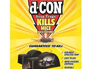 d CON Reusable Ultra Set Covered Mouse Snap Trap  2 Traps