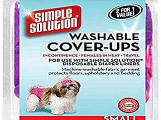 Simple Solution Washable Diaper Cover Ups  Small   Colors May Vary  Pink Purple or Blue Black  2 Pack