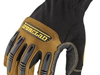 Ironclad Ranchworx Work Gloves RWG2  Premier leather Work Glove  Performance Fit  Durable  Machine Washable   1 Pair  large   RWG2 04 l