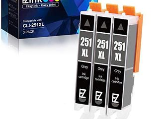 E Z Ink  TM  Compatible Ink Cartridge Replacement for Canon ClI 251Xl ClI 251 Xl to use with PIXMA MG6320 Pixma MG7120 Pixma MG7520 Pixma IP8720  Gray  3 Pack