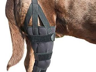 labra Dog Canine K9 Knee Stifle Brace Wrap Metal Hinged Flexible Support Treat ACl CCl luxating Patella Cruciate ligament Sprain Strain Tear Injuries  Medium long   left Knee