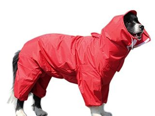 Alfie Pet   Bella Rainy Days Waterproof Raincoat  for Dogs and Cats    Color  Red  Size  Small