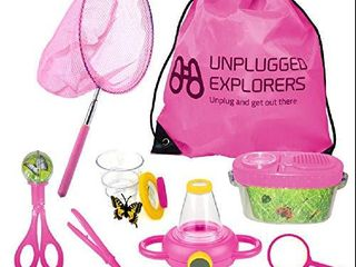 Unplugged Explorers 10 Piece Bug Kit  Pink