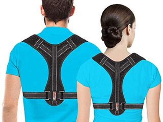 Posture Corrector for Men and Women  Upper Back Brace for Clavicle Support  Adjustable Back Straightener and Providing Pain Relief from Neck  Back   Shoulder   Universal   Regular