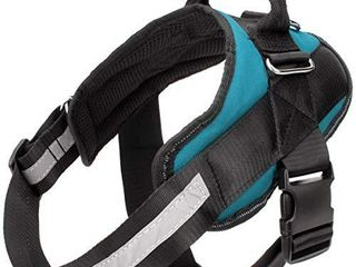 Bolux Service Dog Harness  Easy On and Off Pet Vest Harness  Reflective Breathable and Easy Adjust Pet Halters with Nylon Handle for Small Medium large Dogs   No More Pulling  Tugging or Choking