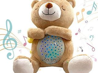 Baby Soother Sound Machine   White Noise Machine   Portable lullaby   Plush Teddy Bear Crib Projector Night light   Gifts for Babies 6   12 Months