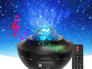 Star Projector   Night light  Torjim 2 in 1 Ocean Wave Night light Projector with Remote Control   Auto Off Timer  Galaxy Projector with lED Nebula Cloud with Bluetooth Speaker for Kids Bedroom