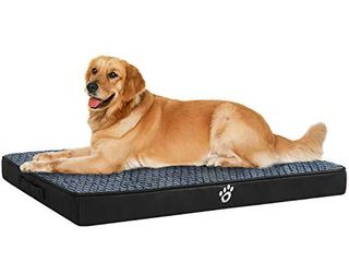 OQQ Memory Foam Dog Bed for Small  Medium  large Dogs   Cats   Orthopedic Dog Crate Mats Suitable for 32 inches 35 inches 43 inches Crates   Nonskid Bottom