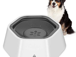 HETH Dog Water Bowl for Pet Drinking and Eating  No Spill Slow Feeder Preventing Chocking Water and Food Bowl