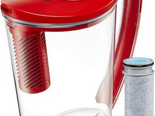 Brita 10060258362395 Stream Filter As You Pour  10 Cup  BPA Free Hydro Water Pitcher  Chili Red