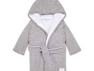 Burt s Bees Baby   Bathrobe  Infant Hooded Robe  Absorbent Knit Terry  100  Organic Cotton  0 9 Months  Heather Grey