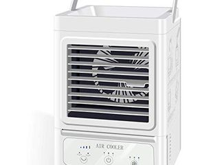 Personal Air Cooler 5000 mAh Rechargeable Battery Operated 60 and 120Auto Oscillation  Portable Air Conditioner Fan with 3 Refrigeration and 3 Wind Speeds  Quite Cooling Fan for Home and Outdoor