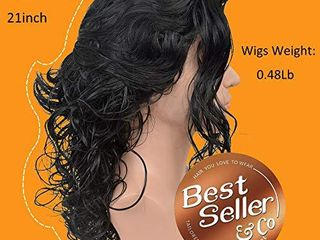 SiYi long Curly 80s Men Fashion Smart Rocker Style Wig costume Hairstyle Cosplay wigs