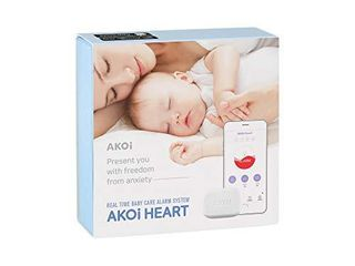 AKOi Heart Real Time Baby Care Alarm System  Baby Monitoring Sensor  Breathing Monitor  Rollover Monitor  Diaper Monitor