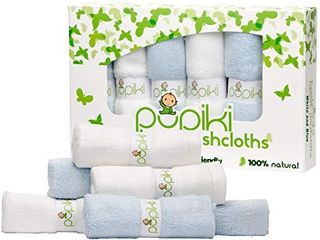Pupiki Baby Washcloths Soft Baby Wash Cloths for Face   Body  Gentle on Sensitive Skin Baby Towels with Bamboo Made from Rayon Fiber   Bonus Machine Washable Bag by Pupiki 10 x 10