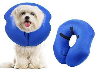 AK KYC Inflatable Collar for Dogs and Cats Protective Dog Cone After Surgery Soft Recovery E Collar for large Pet  l Szie 12 9 14 9 inch