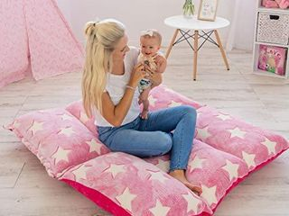 COlUX 3 in 1 Premium Glow in The Dark Floor Pillow Cover for Kids  Cover ONlY  Pillow Chair lounger for Boys   Girls  Fold Out Chair Bed  Pillow beds  Kids Couch  fold Out Sofa Bed  Teen Body Pillow