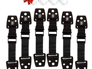 Mama Bear Cares   6 Baby Proofing Furniture Straps   4pc Corner Guards  Child Proof  Child Safety  Furniture Wall Anchor  Earthquake Straps  Furniture Straps  Safety Anti Tip  Toddler Tv Anchor Blk