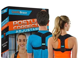 Comfy Brace Posture Corrector Back Brace for Men and Women  Fully Adjustable Straightener for Mid  Upper Spine Support  Neck  Shoulder  Clavicle and Back Pain Relief Breathable