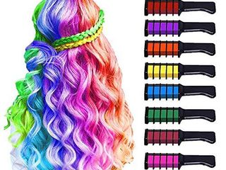 10 Color Hair Chalk for Girls Kids  Temporary Bright Hair Color Chalk Comb Set for Girls Of Ages 4 5 6 7 8 9 10  Perfect Birthday Gifts Christmas New Year Costume Cosplay DIY Party Favors for Girls Kids