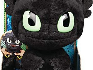 DreamWorks Dragons  Squeeze and Roar Toothless 11 Inch Plush with Sounds  for Kids Aged 4 and Up