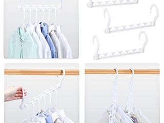 HOUSE DAY Sturdy Plastic Space Saving Hangers Cascading Hanger Organizer Pack of 20 Closet Space Saver Multifunctional Hangers for Heavy Clothes  White