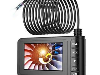 Industrial Endoscope  SKYBASIC 1080P HD Digital Borescope Camera Waterproof 4 3 Inch lCD Screen Snake Camera Video Inspection Camera with 6 lED lights  Semi Rigid Cable  32GB TF Card and Tool  33FT