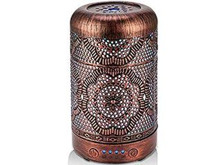 BAIESHIJI Essential Oil Diffuser  Metal Vintage Essential Oil Diffusers 100Ml  Aromatherapy Diffuser with Waterless Auto Shut Off Protection  Cool Mist Humidifier for bedroom home and Office