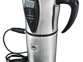 Heated Smart Travel Mug with Temperature Control   16 ounce  12V   Stainless Steel