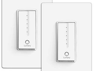 Smart Dimmer Switch  lumary Single Pole Wi Fi light Switch Compatible with Alexa Google Assistant  No Hub Required Neutral Wire Required  ETl   FCC Certified  2 Packs