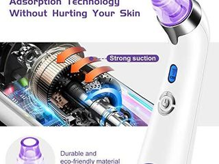 Blackhead Remover Pore Vacuum   Electric Blackhead Vacuum Cleaner Blackhead Extractor Tool Device Comedo Removal Suction Beauty Device for Women Purple