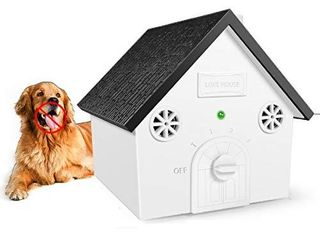 Zomma Anti Barking Device  New Bark Box Outdoor Dog Repellent Device with Adjustable Ultrasonic level Control Safe for Small Medium large Dogs  Sonic Bark Deterrents  Bark Control Device
