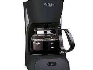 Mr  Coffee Simple Brew Coffee Maker 4 Cup Coffee Machine Drip Coffee Maker  Black