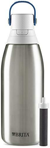 Brita Stainless Steel Water Filter Bottle  Stainless Steel  32 Ounce  1 Count