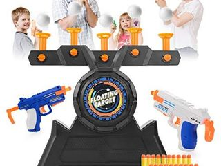 VISATOR Floating Ball Shooting Games for Kids Nerf Guns Toys USB Powered Shooting Targets Practice for Boys with 2 Foam Dart Guns  20 Foam Balls   20 Darts