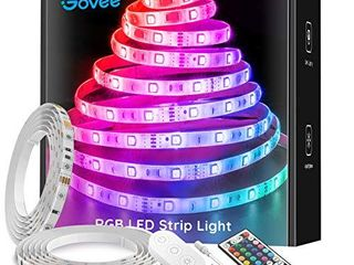 Govee lED Strip lights 32 8ft Waterproof Color Changing light Strips with Remote  Bright 5050 and Multicolor RGB lED lights for Room  Bedroom  Kitchen  Yard  Party  Christmas