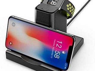 Compatible with Fitbit Versa lite Edition Special Edition Charger Dock and Cellphone Holder Hagibis Replacement Charging Cable Station for Versa with Cell Phone Holder Stand  NO Phone Charger
