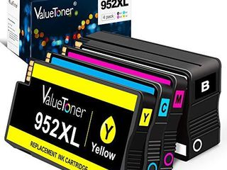 Valuetoner 952Xl Remanufactured Ink Cartridges Replacement for HP 952 Xl 952Xl 952 High Yield for OfficeJet Pro 8710 8720 7740 8740 7720 8730 8210 8715 8216 8725 8702  Upgraded Chip  4 Pack