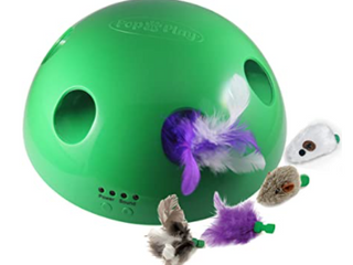 Allstar Innovations Pop N Play Deluxe Interactive Motion Cat Toy  Includes