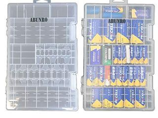 2pcs Battery Organizer Storage case for 136pcs Battery Holds  AA  AAA  C  D  9 Volt Sizes and Button Battery Storage Box  Great Storage fordrawer Tools Room