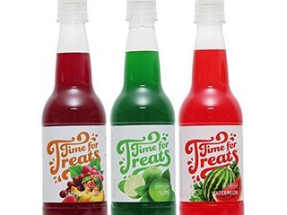 Time for Treats 3 Pack Tropical Punch  Watermelon  lime Flavored Syrups VKP1107