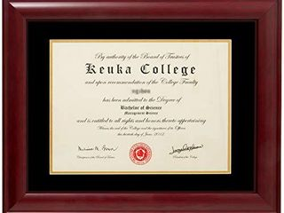 Ohh Art Diploma Frame Sized 8 5x11 Inch with Mat and 11x14 Inch without Mat for Documents Certificates Real Wood and Glass Double Mat Black Suede and Golden   8 5x11 without mat
