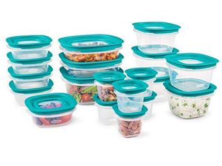 Rubbermaid EasyFindlids with Press   lock leak Proof lids Food Storage Set  Meal Prep Containers  38 Piece  Clear