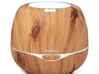 Aromacare Essential Oil Diffusers  300 Milliliters  Brown Wood Grain  Waterless Auto Shut off for Baby Room Bedroom and Office