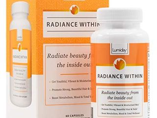 lumiday Radiance Within   luxe Beauty Booster and Wellness Supplement for Women  Stress and Mood Support